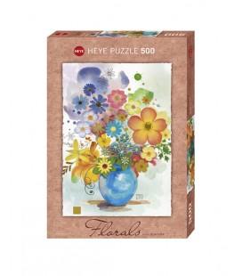 پازل 500 تکه (Florals Blue)