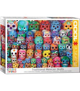 پازل 1000 تکه Traditional Mexican Skulls
